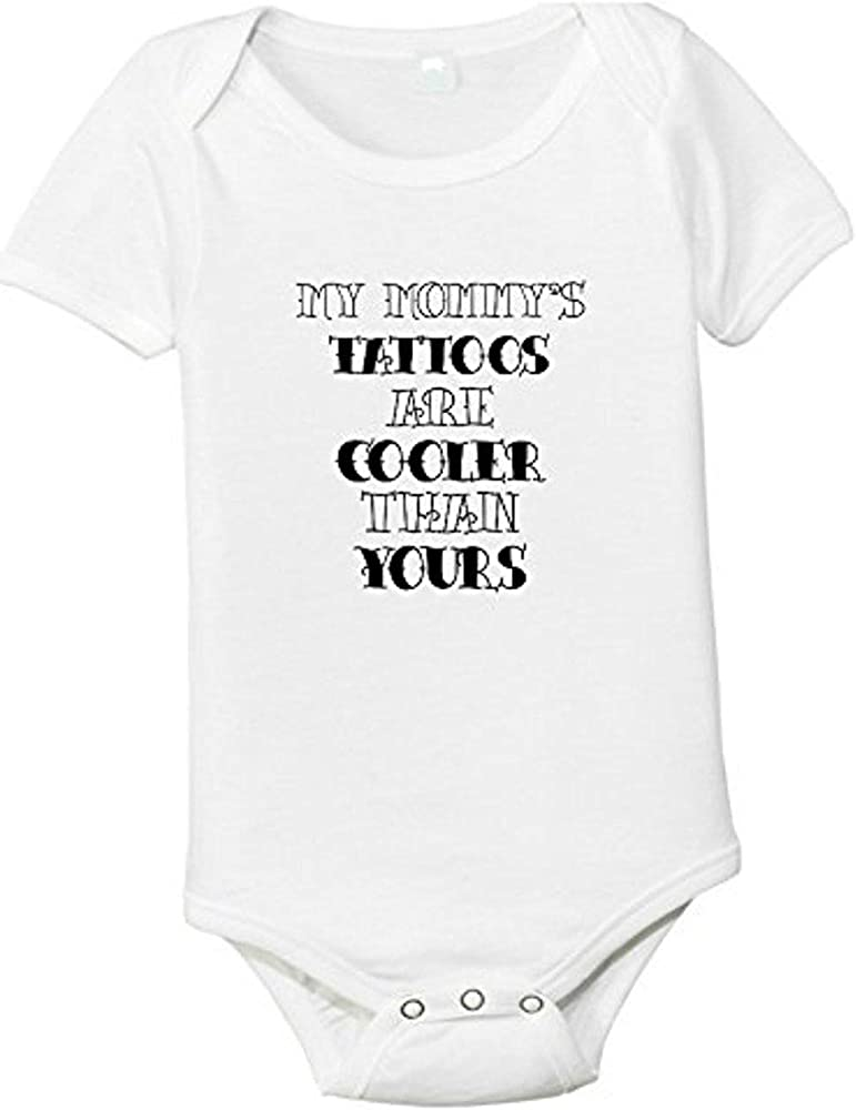 MY MOMMY/'S TATTOOS ARE COOLER THAN YOURS Unisex Cotton Romper Baby Bodysuit