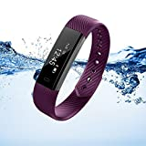 Marceloant Waterproof Fitness Tracker Watch Sport Wristband Pedometer BluetoothSmart Bracelet Wireless Touch Screen Sleep Monitor Activity Tracker with Step Distance Calorie Counter (ID115-Purple)