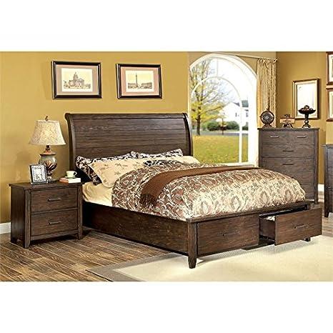 Amazon.com: Furniture of America Nuguay 3 Piece California ...