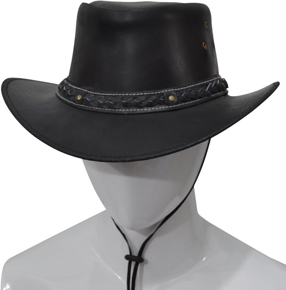 AQWA New Classic Western Cowboy Hat Bush Kuh Leder Kuh Boy
