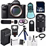 Sony Alpha a7R II Mirrorless Digital Camera (International Model no Warranty) + Sony E 55-210mm f/4.5-6.3 OSS E-Mount Lens (Black) + 49mm 3 Piece Filter Kit 6AVE Bundle 105