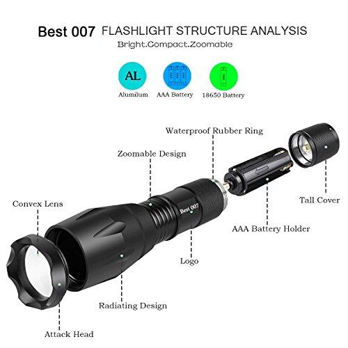 best 007 super bright led flashlight tactical flashlight. Black Bedroom Furniture Sets. Home Design Ideas