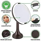mDesign Modern Motion Sensor LED Lighted Makeup