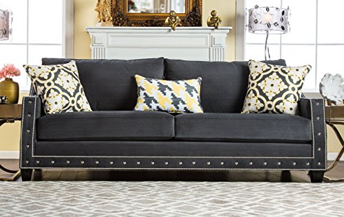 Furniture of America Coley Contemporary Premium Sofa, Gray