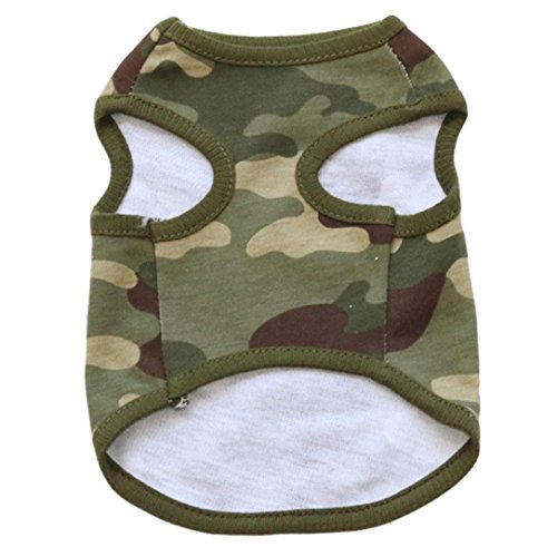 Image of 2017 Hot Pet Vest! AMA(TM) Pet Puppy Small Dog Clothes Chihuahua Camouflage Cotton Vest T-Shirt Doggy Shirts Apparel Costume (XS, Camouflage)