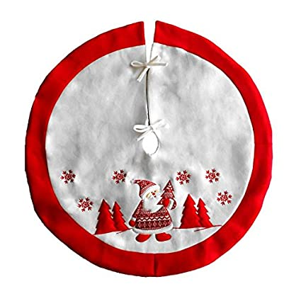 tree skirts santa claus embroidered christmas tree skirt decoration year xmas cover decoraions holiday - Coastal Christmas Tree Skirt