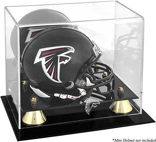 Atlanta Falcons Golden Classic Mini Helm DISPLAY Fall durch montiert Erinnerungen