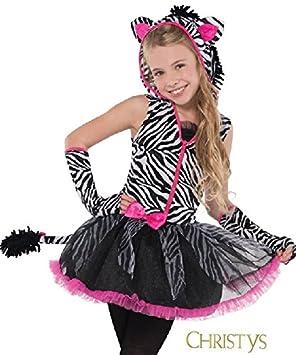 Christys - Disfraz para niña cebra, talla 12 - 14 años (997029)