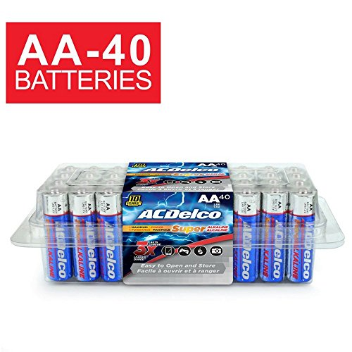 ACDelco AA Batteries, Alkaline Battery, 40 Count Pack
