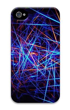 Amazon.com: Color Line Black Background PC Case Cover for ...