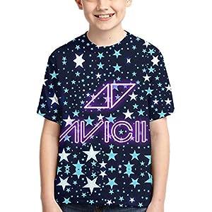 John J Littlejohn Avicii Boy'S T-Shirts 3D Printed T-Shirt for Toddlers Kid'S Short-Sleeve Casual Tee