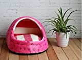 1 Pcs Excellent Popular Pet Half Covered Bed Size S Cat Pad Rug Indoor Kennel Soft Fabric Color Type Rose Pink