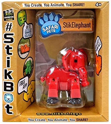 Stikbot Safari Pets Red Elephant