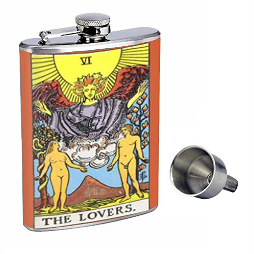 The Lovers Free Tarot d-111 Card Perfection inスタイル8オンスステンレススチールWhiskey Flask with Free Lovers Funnel d-111 B015QLGTNO, ジュエリー YouMe:068e8aea --- lindauprogress.se