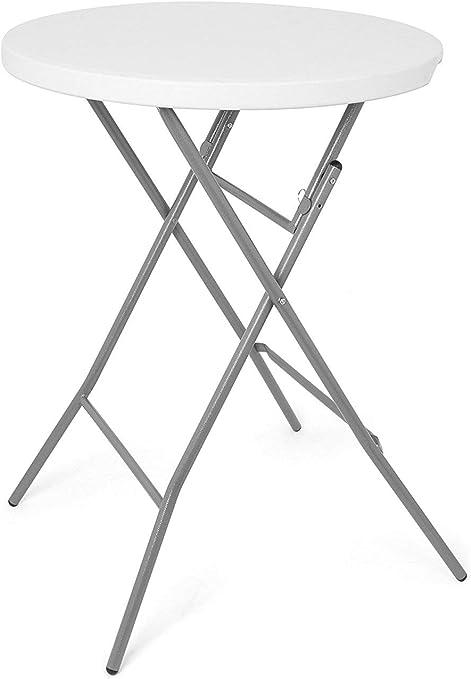 Park Alley - Table haute pliante blanche - Table ronde pour ...