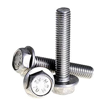 Amazon com: Bolt Base 6mm A2 Stainless Steel Flanged Hex Head Bolts