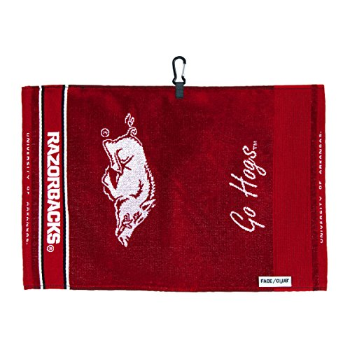 Team Effort Arkansas Razorbacks Face/Club Jacquard Towel
