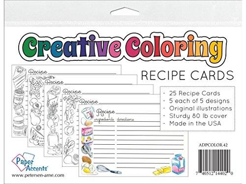 Recipe Card Designs (Accent Design Paper Accents ADPCOLOR.42 Coloring Recipe Cards)