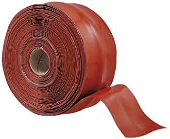 "X-Treme Tape TPE-XT2036ZLR Silicone Rubber Self Fusing Tape, 2"" x 36', Triangular, Iron Oxide Red"