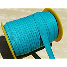 """Turquoise Twill Tape Trim - Sewing Banners Bunting Shipping Packaging - 3/8"""" - 10 Yards"""