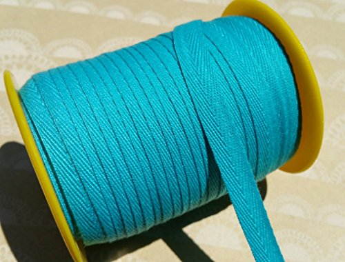 Polyester Tape Twill (Turquoise Twill Tape Trim - Sewing Banners Bunting Shipping Packaging - 3/8