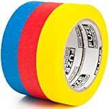 Colored Masking Tape Craft Set - 3 Pack [1 in x 40 yrd Rolls] - Multi Colored Variety Kit - Assorted Color Coded & Fun DIY Art Supplies- Kids Ages 2