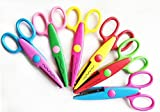 "NYKKOLA 5 Inch Length Creative Scissors School Smart Paper Decorative Wave Lace Edge Scissors - Set of 6 - Assorted Colors For Scrapbook Crafts and Gif t Card GiftCard (Pack of 6 - 5"")"