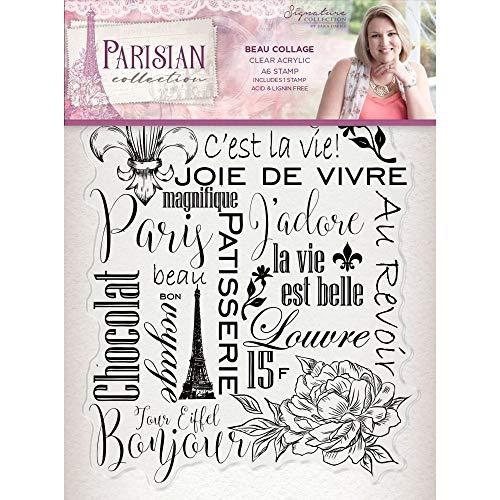 (Sara Davies Parisian Signature Collection - A6 Acrylic Stamp - Beau Collage)