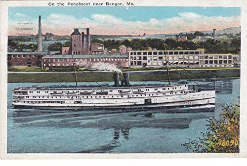 388VINT03 A 1931 On the Penobscot near Bangor, Me. (18090) VINTAGE, COLLECTIBLE, ANTIQUE POSTCARD from HIBISCUS EXPRESS -THIS POSTCARD IS 5 1/2