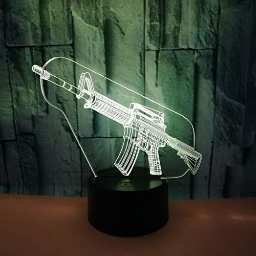 Lanbba Forma De Pistola Luz Nocturna 3D Fuente Fuente Fuente De Alimentación Usb Tacto Colorido Led Luz Visual Decoración De Ambiente Pequeña Lámpara De Mesa 9166d9