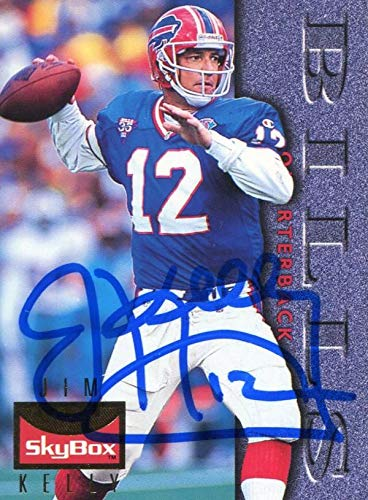 141b68dc58d Jim Kelly Autographed 1995 Skybox Card - NFL Autographed Football Cards