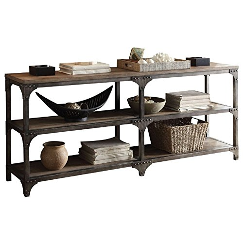 ACME Furniture Acme 72680 Gorden 70'' Server, Weathered Oak & Antique Silver