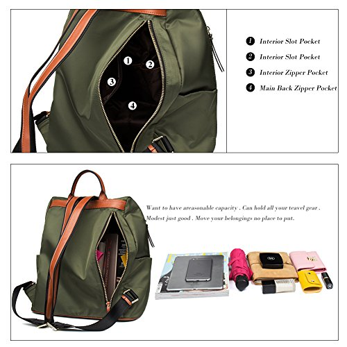 Fashion Army Backpacks Lightweight Purse Travel Large Water Backpack Canvas Small Large School Resistant for Women Green RxqBT8HOn