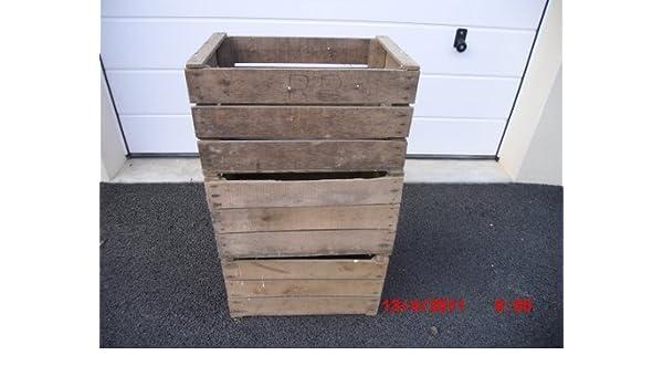 Reciclado rústico de madera cajas de fruta. Código FBWO01: Amazon.es: Hogar