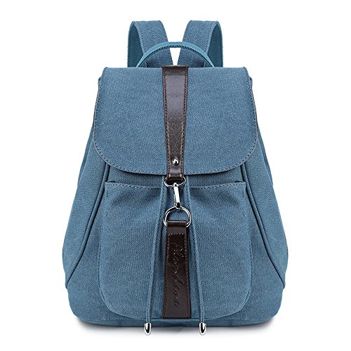 Backpack Canvas Fafanb And Bag New Fashion Backpack Blue Meaeo Backpack Lace Brown 7wEFqn