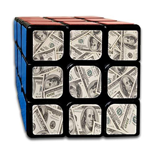 Rubiks Cube Dollar Money Designer Speed Cube 3x3 Smooth Magic Cube Puzzle Game Black ()