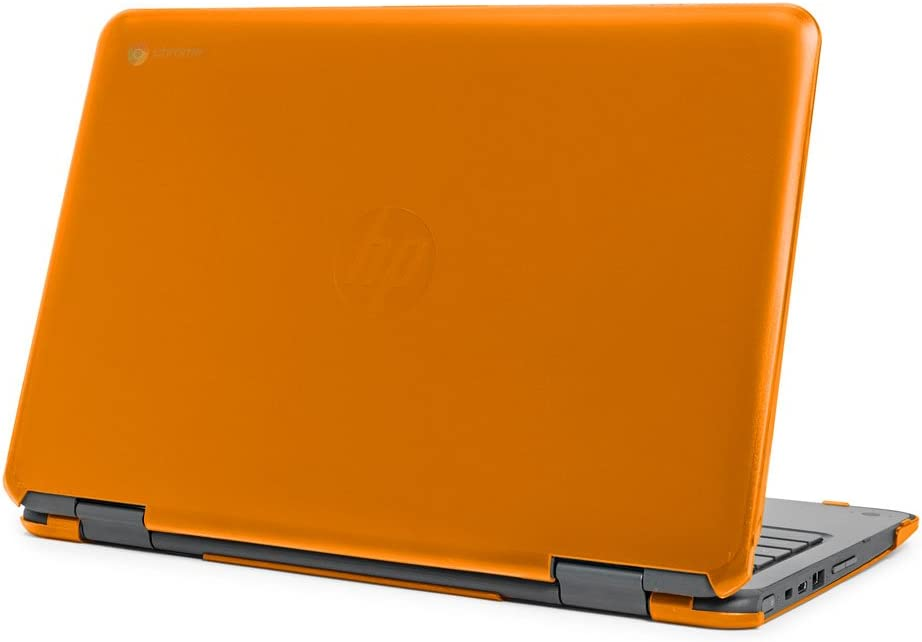 "mCover Hard Shell Case for 11.6"" HP Chromebook X360 11 G1 EE laptops (NOT Compatible with HP C11 G4EE / G5EE / G6EE) (HP CX360 11 G1EE Orange)"