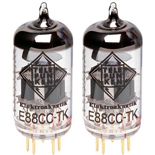 TELEFUNKEN Elektroakustik Matched Pair of E88CC-TK | Black Diamond Series 9 Pin Replacement Vacuum Tube 6922