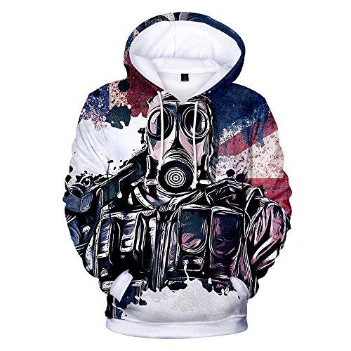 - VOSTE Rainbow Hoodie 3D Printed Hooded Pullover Sweatshirt (Medium, Color 5)