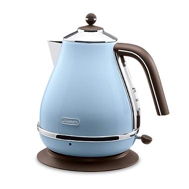 Delonghi Electric kettle (1.0L)「ICONA Vintage Collection」KBOV1200J-AZ (Azzurro Blue)【Japan Domestic genuine products】