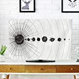 Analisahome Dust Resistant Television Protector Solar System in dotwork Style Planets in Orbit Vintage Drawn tv dust Cover W32 x H51 INCH/TV 55''