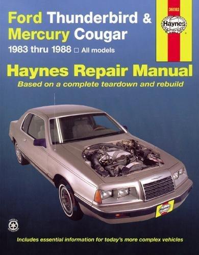 Ford Tbird & Mercury Cougar '83'88 (Haynes Repair Manuals) ()