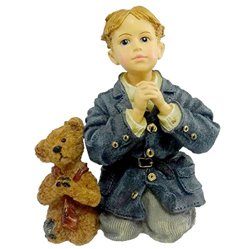 Boyds Bears Resin PETER W/ JAMES THE PRAYER 354506 RFB Dollstone Boy Limited Edition New