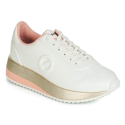 No Name - Zapatillas de Deporte de Sintético Mujer, Blanco (Blanco), 36