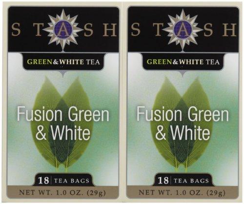 Stash Tea Green & White Fusion Tea, 18 ct, 2 pk