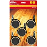 Feltac Fusion Wheels- Dual Wheel Casters w/ Fused Felt- 5 Pack
