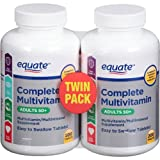 Equate - Complete Multivitamin Adults 50+, 200 x 2 Tablets TWIN PACK (Compare to Centrum)
