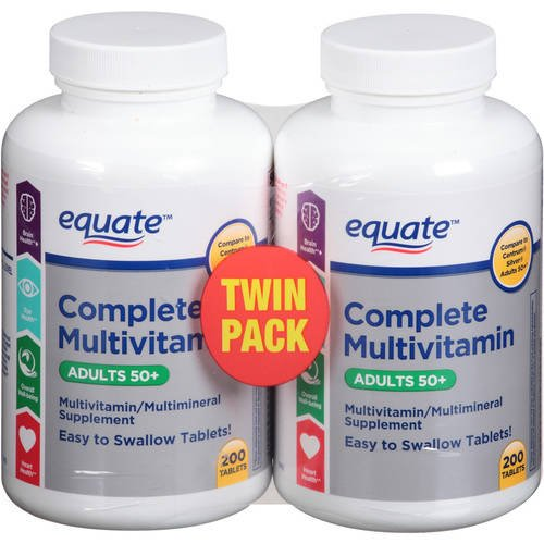 Equate – Complete Multivitamin Adults 50 , 200 x 2 Tablets TWIN PACK Compare to Centrum