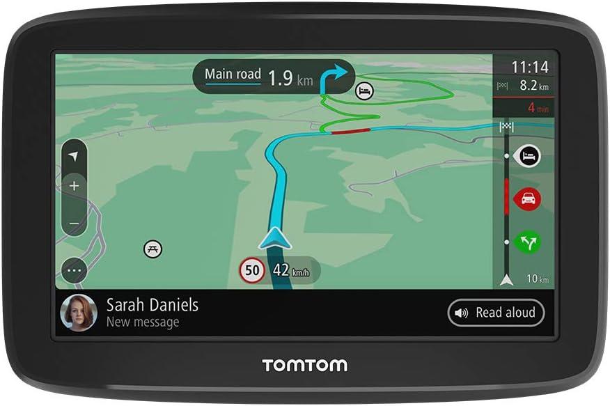 TomTom GPS para Coche GO Classic, 6 Pulgadas, con tráfico y Prueba de radares Gracias a TomTom Traffic, mapas de la UE, actualizaciones a través de WiFi, Soporte Reversible Integrado