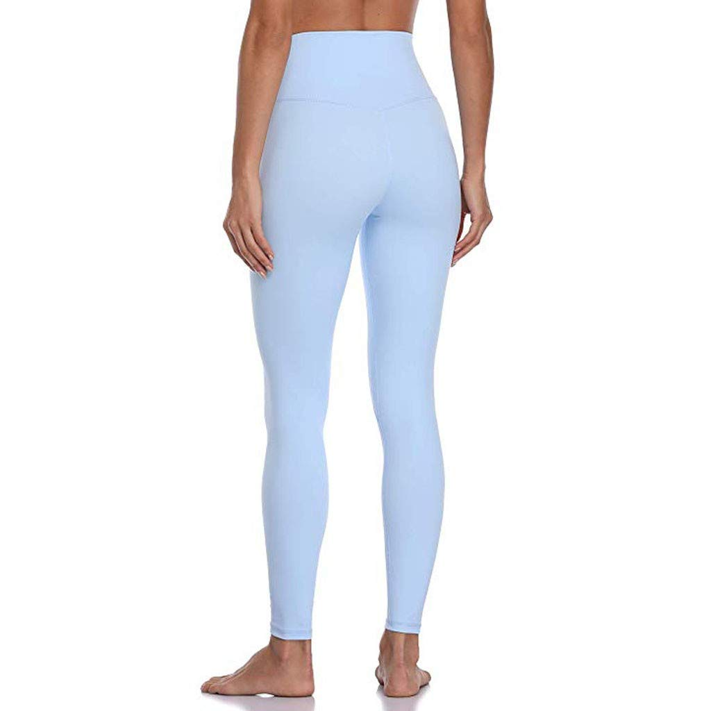 JOFOW Leggings for Women Solid Basic Special Color Long Sport Pants